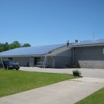 73kW roof-mount FIT installation. Buckhorn Community Centre (2011)