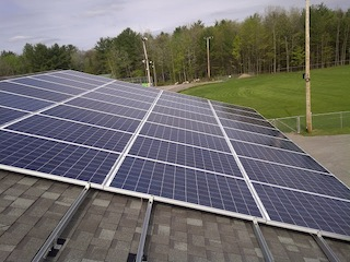 Buckhorn Community Centre 73kW FIT Project During Installation